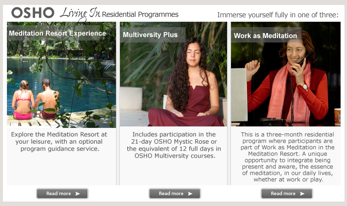 OSHO Living in Residential Programmes